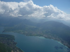 Looking back S Lake Annecy
