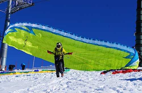 Launch at Hohe Salve (Tyrol, Austria)