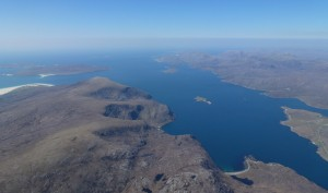 Above the Outer Hebrides at 5000' feet !