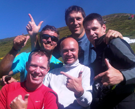 Rinaldo, Michi, Uros, Hans and myself just before launch at Grentealm