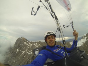 Peter flying from the Zugspitze