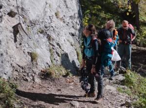 Einstieg Franz- Josef Klettersteig
