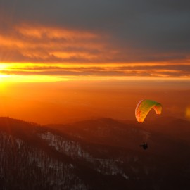 Black Forest Winter Soaring Day with Sunset