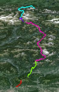 Route der Alpenüberquerung