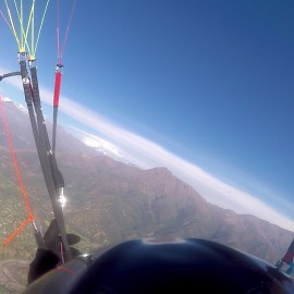 Flying in Santiago, Chile… My favorite place!