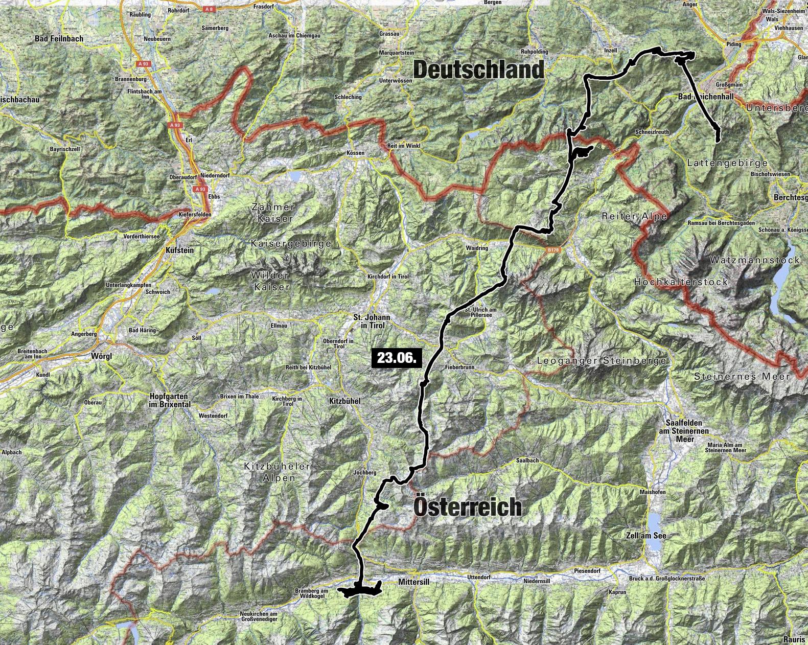 Von Reichenhall nach Hollersbach. Zefix – das war anders geplant…