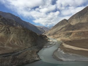 Looking up the Zanskar from the Indus confluence