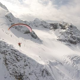 Flying from Wilder Freiger (3418m) Tyrol, Stubaital