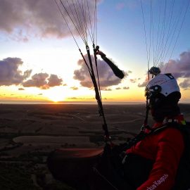 Sunset flight with my NOVA Sector
