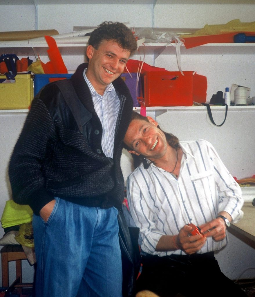 Back in 1990 in the very first NOVA office together with Felix Federer.