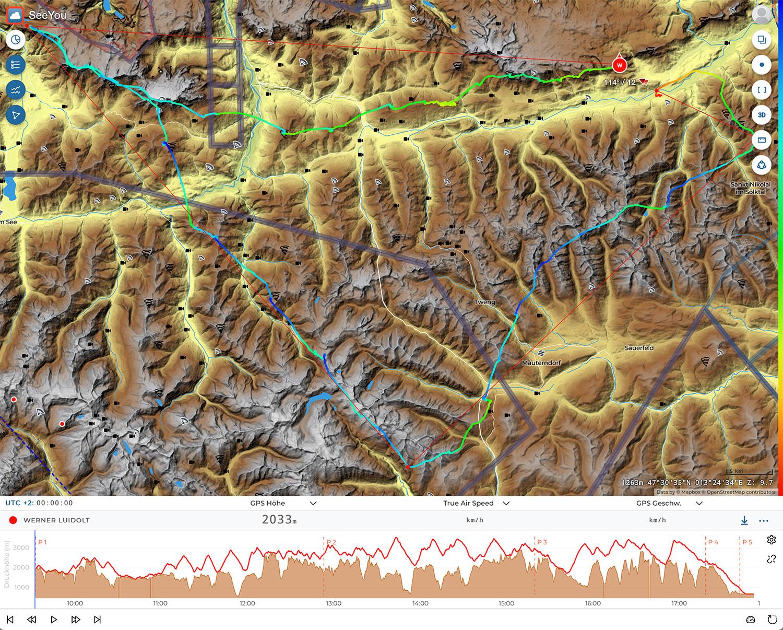 Neue Route für das Stoderzinken FAI-Dreieck mit 2 x Alpenhauptkamm